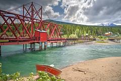 Railway bridge into Carcross, Yukon Territory
