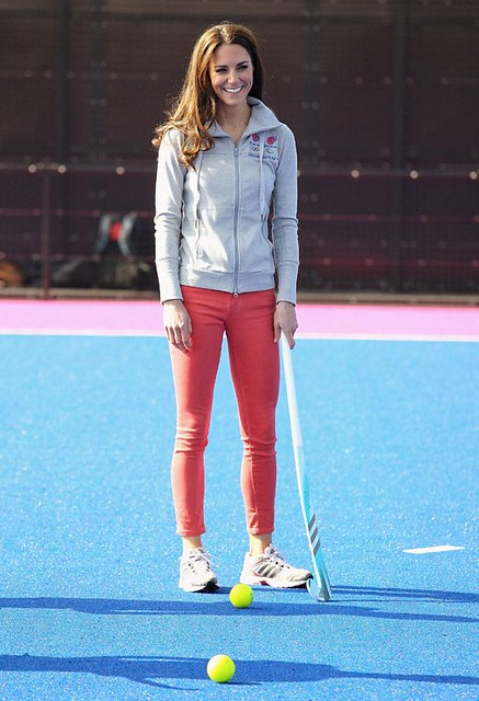 Duchess+of+Cambridge+plays+hockey+with+the+GB+hockey+teams+at+the+Riverside+Arena+in+the+Olympic+Park