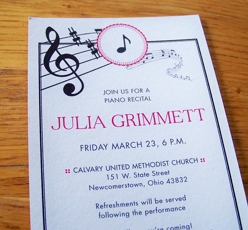 Recital Invitation