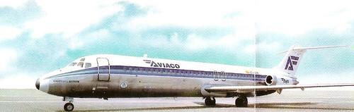 Douglas DC-9/32 de Aviaco EC- BYH Castillo de Butrón