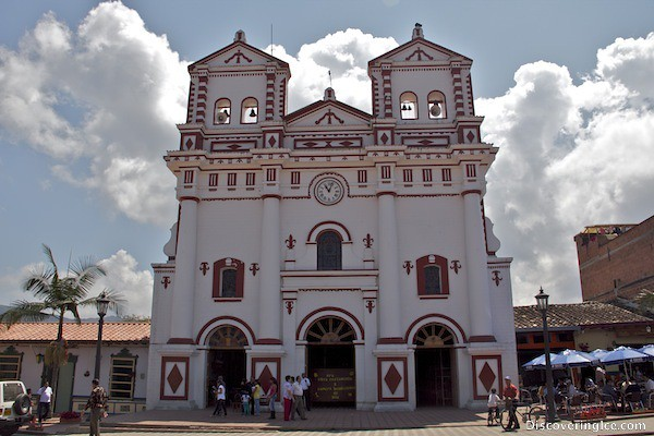 Church in the main square of Guatapé, Colombia