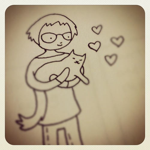Me holding Nilla drawing.