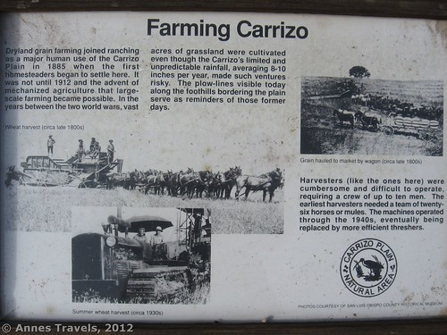 Dryland farming in Carrizo Plain National Monument, California