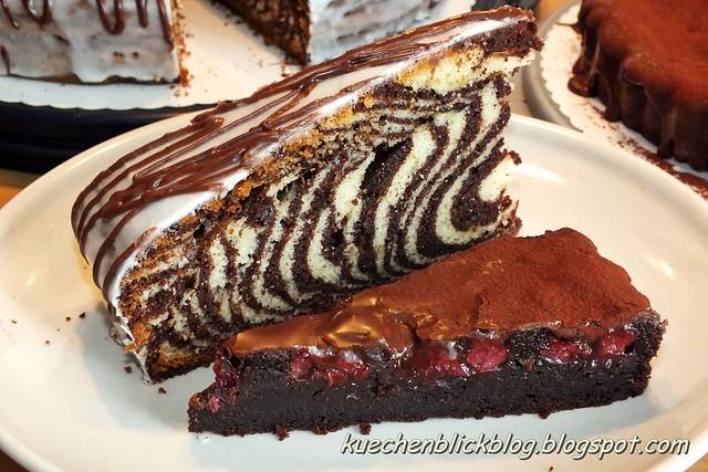Zebra- und Kirsch-Cola-Kuchen