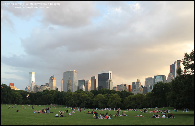 Dusk Falls on the Sheep Meadow