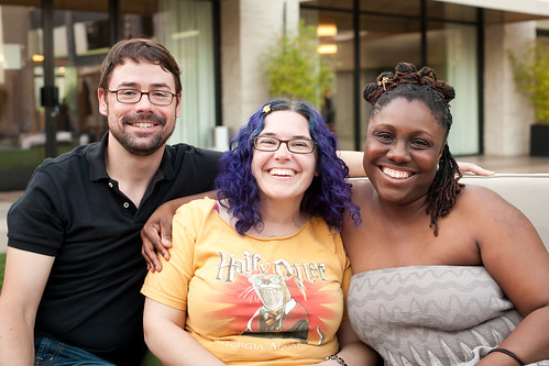 The Harbinger team: Michael Bourret, Sara Wilson Etienne, and Stacey Barney