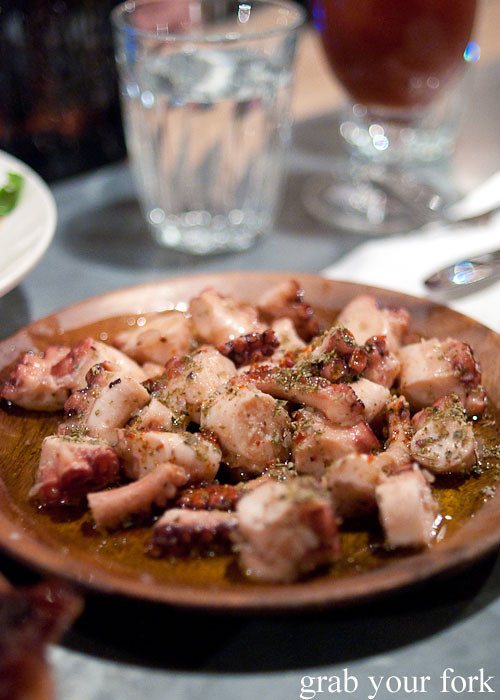 pickled octopus at freda's chippendale