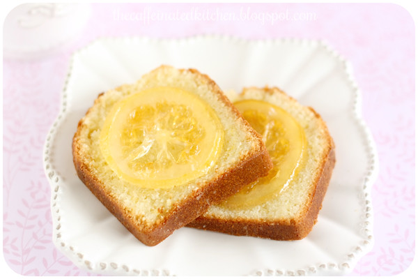 Lemon Loaf Cake with Lemon Glaze and Candied Lemon Slices