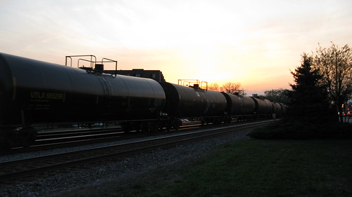 Westbound Canadian Pacific freight train at sunset. Elmwood Park Illinois USA. Late March 2012. by Eddie from Chicago