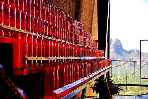 Votive Candles - Chapel of the Holy Cross - Sedona Arizona