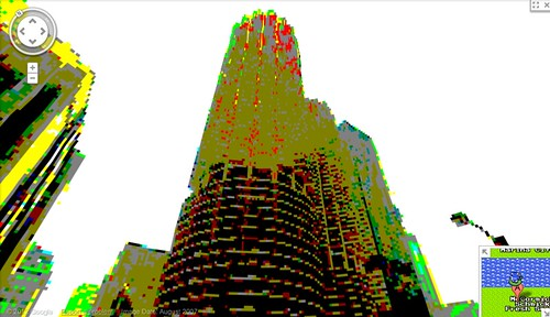 google maps 8bit streetview: Marina Towers