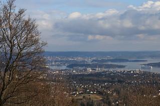 Foto: Blick vom Holmenkollen auf Oslo