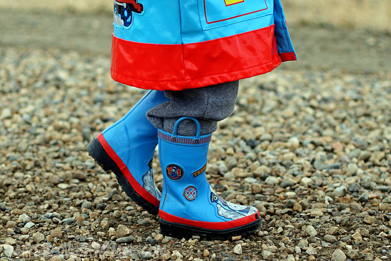 Thomas Rain Coat & Boots!