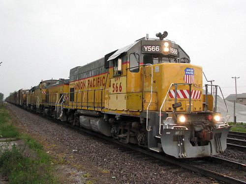 UP GP15-1 Leading Auto Parts Train