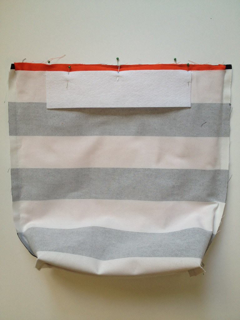 Stripe + Color Tote 06a
