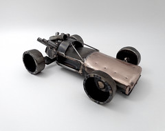 Open Wheel Rear Engine Hot Rod Sculpture