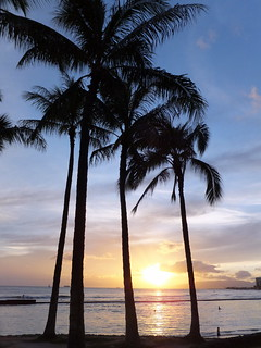 Sunset @ Waikiki Beach