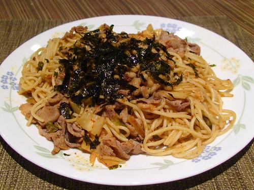 5/25/12 Natto Buta Kimchi Spaghetti