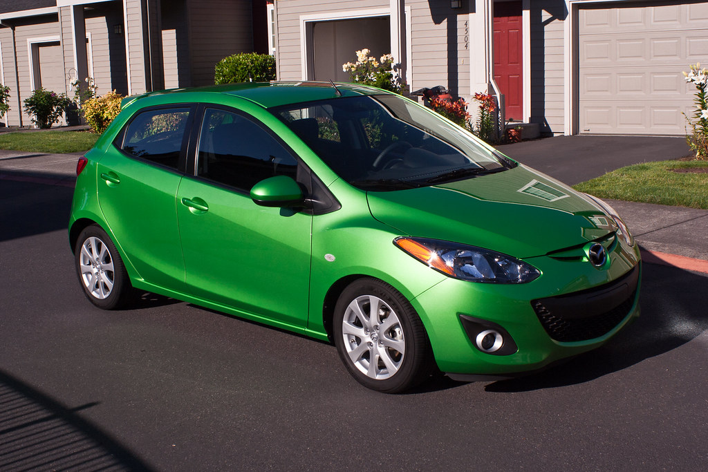 Metallic Green Mazda2