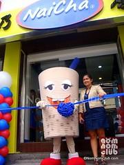 Ms. Josephine Chua & NaiCha Mascot in Grand Opening