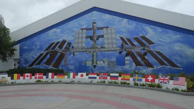 ISS als Wandgemälde