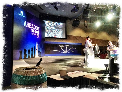 Performance on stage for AXA event