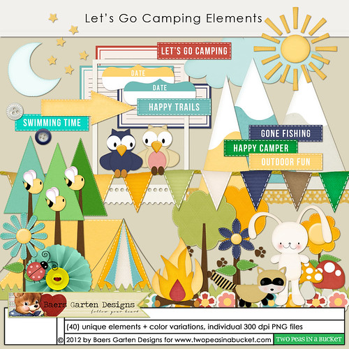 Let's Go Camping Elements