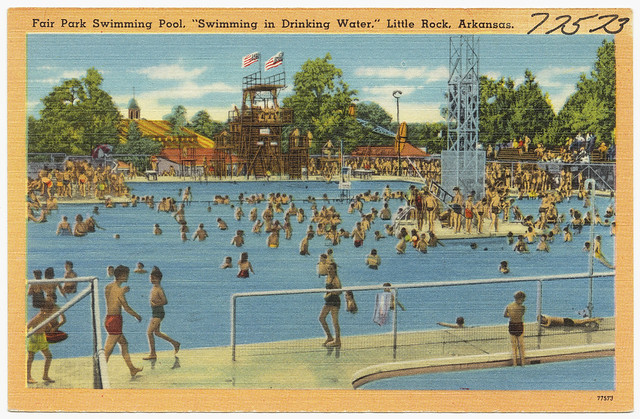 Fair park swimming pool swimming in drinking water flickr photo sharing for Public swimming pools in little rock ar