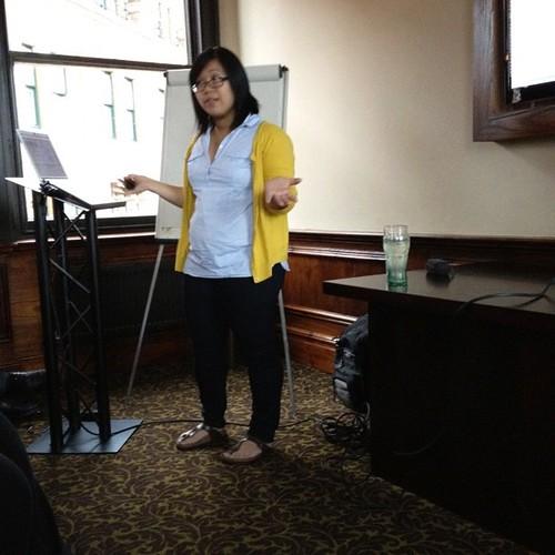 Jenny presenting at #phpnw
