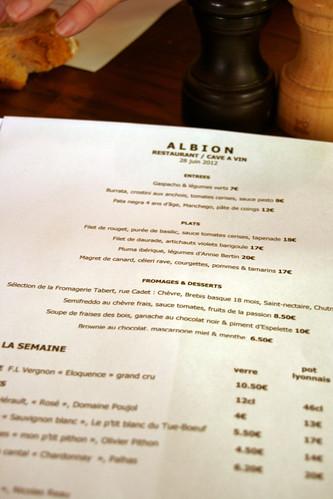 Albion - La carte