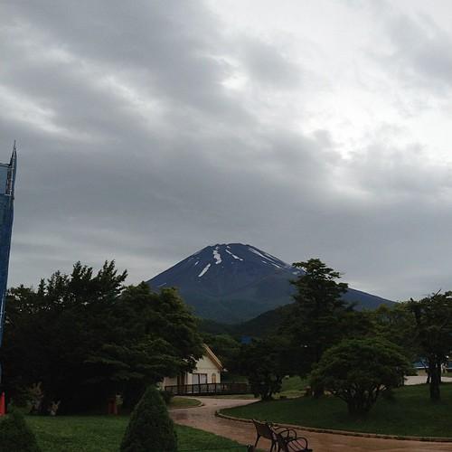 霧が晴れて、富士山がみえた!