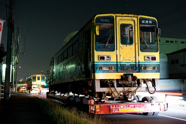 いすみ鉄道 いすみ200型 いすみ203・207 ミャンマー国鉄向け陸送