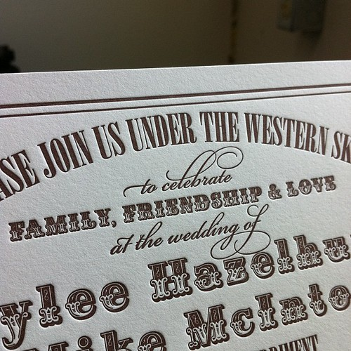 Western wedding invites