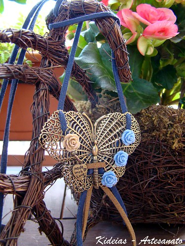 ♥ Blue Butterfly ♥ by kideias - Artesanato