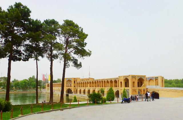 Khaju Bridge, in Esfahan, Iran, was built by Shah Abas II in 1650