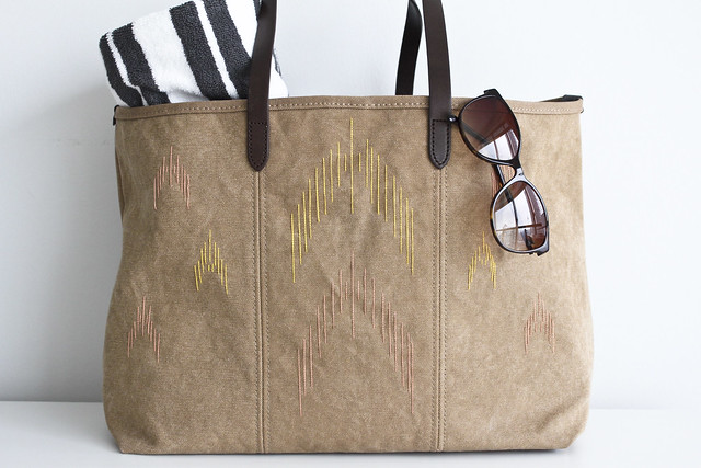DIY: ikat inspired beach bag
