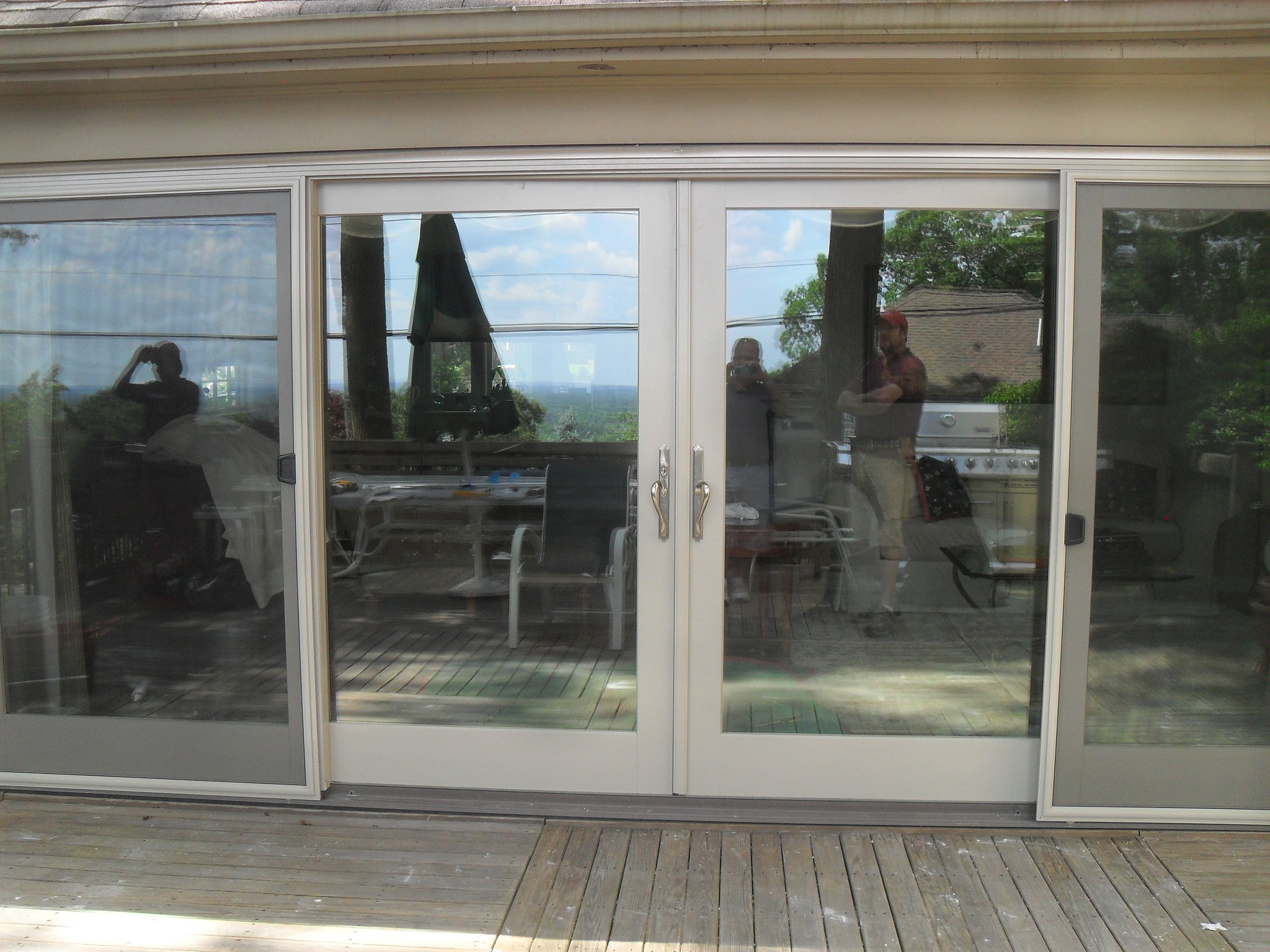 1536 #4D6B7E JELD WEN 16' Sliding Patio Door JELD WEN 16' Sliding Patio  image Aluminum Clad Patio Doors 47232048