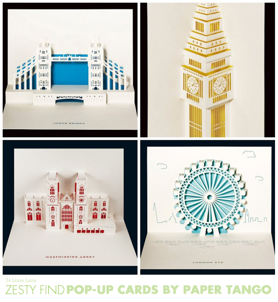 {zesty find} pop-up cards by paper tango