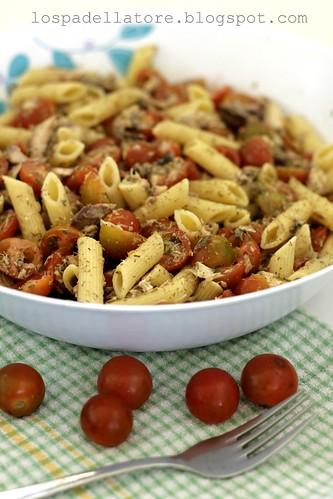 pasta sgombro pomodorini / pasta mackerel cherry tomatoes