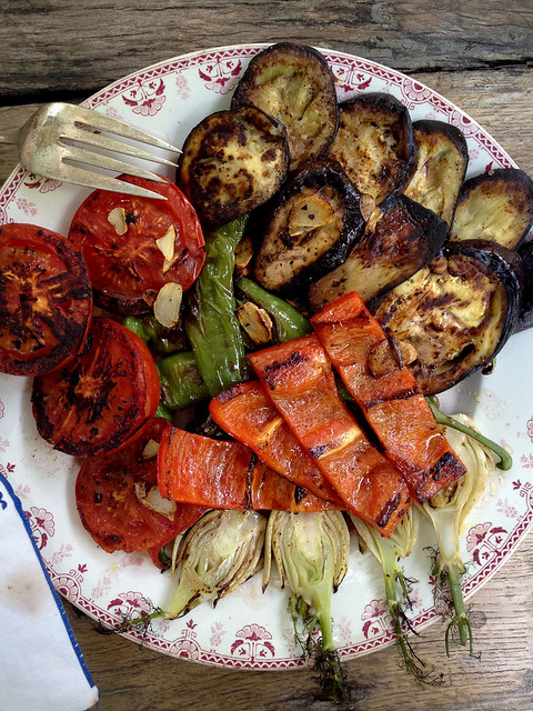 Kate's awesome grilled veg