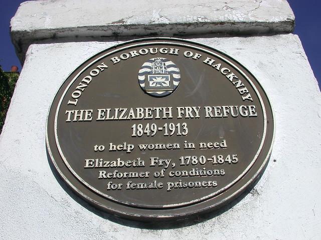 Photo of Elizabeth Fry brown plaque