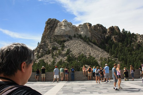 Tourists at Mount Rushmore