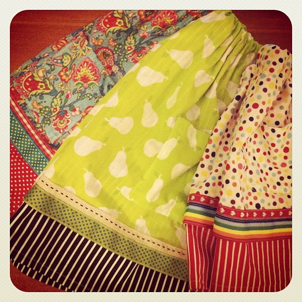 I've been busy sewing skirts for @spiralgarden
