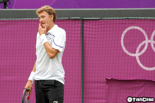 London 2012 Olympic Games - Tennis Roger Federal Denis Istomin Wimbledon
