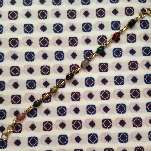 scarab small stone bracelet