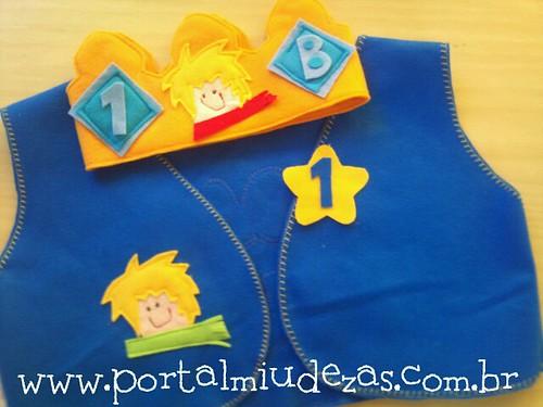 Colete e Coroa do Pequeno Príncipe by miudezas_miudezas