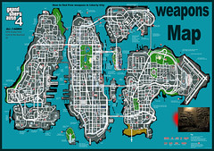 Big Gta Iv Eflc Guns Map Grand Theft Auto Iv Weapons Map Flickr