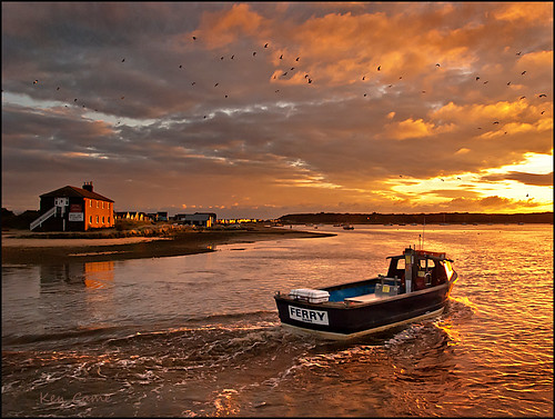 sunset christchurch house black ferry harbor boat nikon harbour head dorset hengistbury mudeford