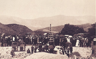 Laying the cornerstone for Pomona College on Piedmont Mesa on September 26, 1888