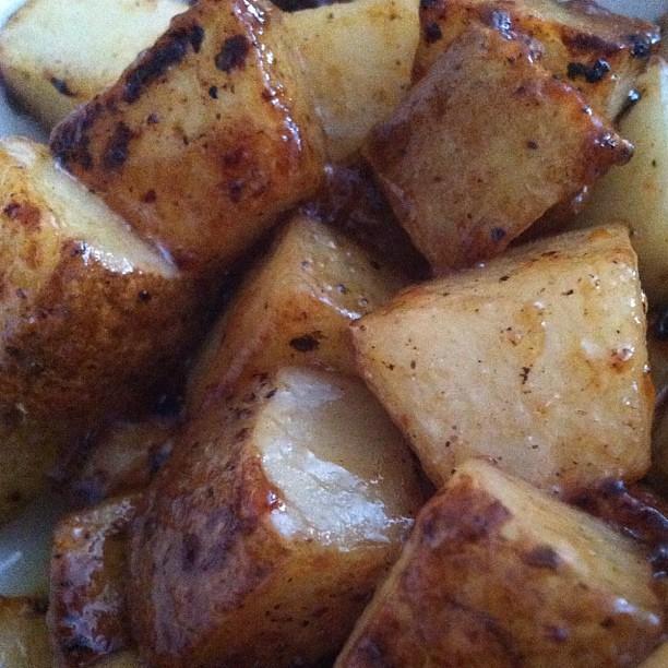 Are lemon honey garlic potatoes the key to happiness? WE SHALL SEE.